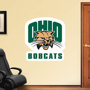 Ohio Bobcats Logo Fathead Wall Decal